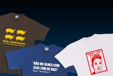 T Shirts Casa Dos Segredos 2 Frases Emblemáticas De &Quot;Secret Story 2&Quot; Em T-Shirt