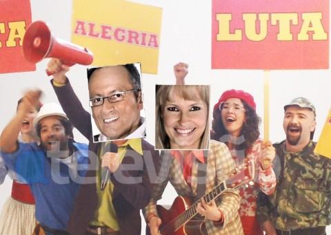 Goucha e Cristina Homens da Luta