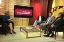 Apresentadora Leila Sterenberg recebe correspondentes para debate em estu dio do novo programa.2 «Clube dos Correspondentes» é o novo programa da TV Globo Internacional