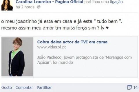 Joao Pacheco Cobra Carolina Loureiro1 Ator Da Tvi, Que Foi Mordido Por Uma Cobra, Já Está Em Casa