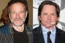 Michael J Fox Robin Williams Michael J. Fox E Robin Williams Estão De Volta