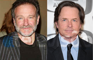 Michael J Fox Robin Williams Michael J. Fox E Robin Williams Estão De Volta