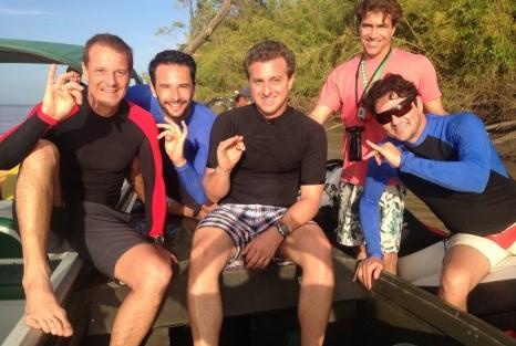 Caldeirão Do Huck Marcelo Novaes, Marcelo Serrado E Rodrigo Santoro Juntos Num Desafio De Surf