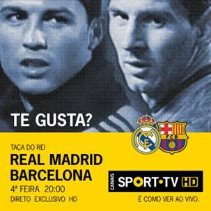 Real Madrid Barcelona Taca Do Rei Taça Do Rei: Real Madrid X Barcelona Em Direto Na Sport Tv