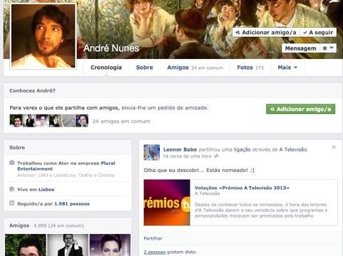A agente de André Nunes não perdeu a oportunidade de partilhar a boa nova com o ator