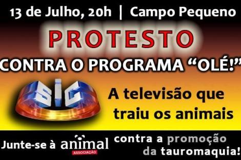 Protesto Contra O Programa Olé Protesto Marcado Para Estreia De «Olé!»