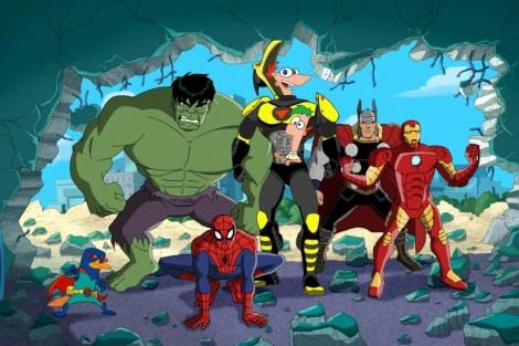 Disney Channel Phineas E Ferb Missao Marvel Personagens Disney E Marvel Juntas Em «Phineas E Ferb: Missão Marvel»
