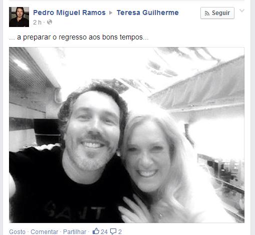 Cats Pedro Miguel Ramos Anuncia «Regresso» Com Teresa Guilherme