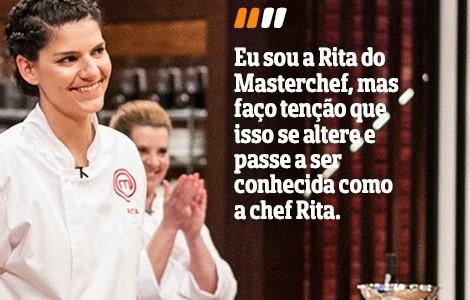 Destaque Rita Masterchef A Entrevista - Rita Elói Neto