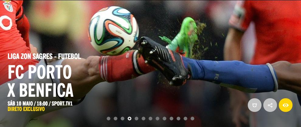 FC Porto x Benfica em direto na Sport TV 1 – A Televisão 8bf241f89f61b