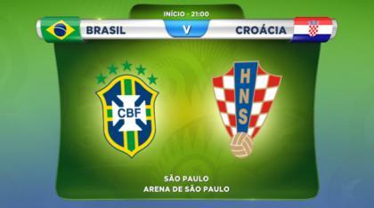 Brasil X Croácia Jogo De Abertura Do Mundial De Futebol Arrasa Concorrência