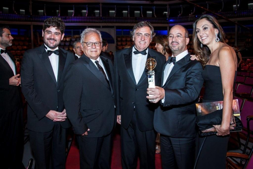 Raphael Correa  Ricardo Pereira Ricardo Scalamandré José Roberto Marinho... Globo Homenageada Na «Xx Gala Dos Globos De Ouro»