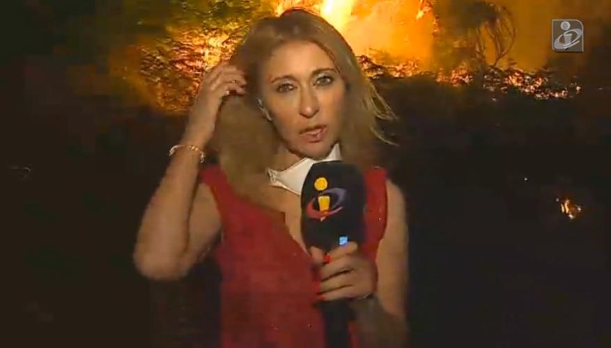 Judite Sousa Judite Sousa Abandona Reportagem Por Risco De Cerco De Chamas