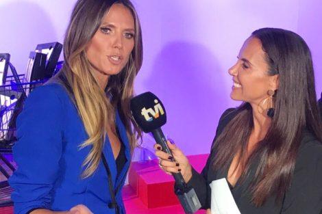 Iva E Heidi Iva Domingues Entrevistou Heidi Klum… Mas Não Foi A Única
