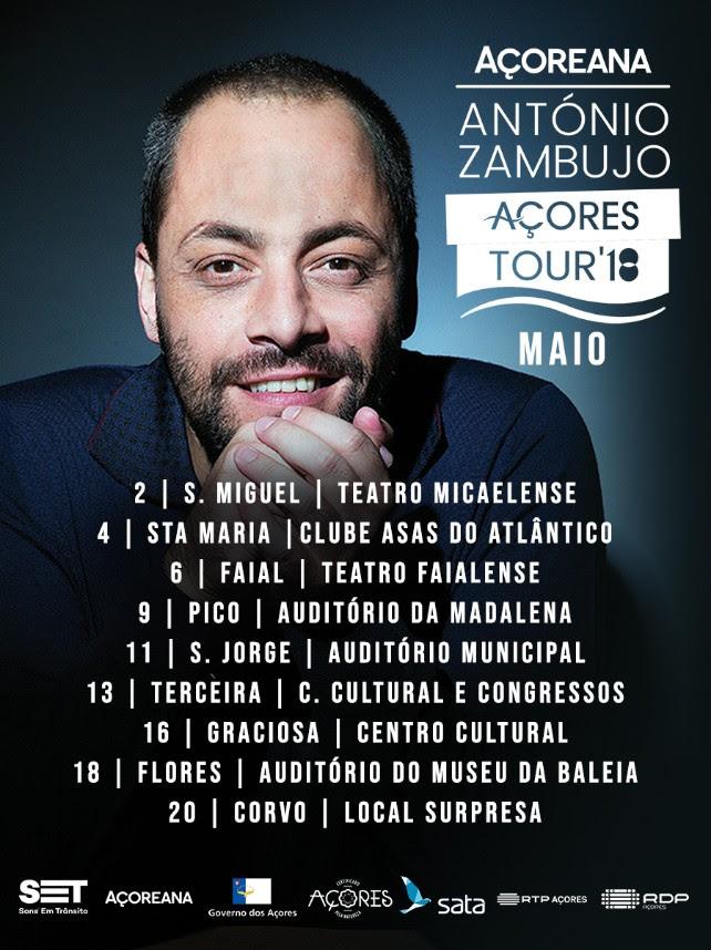 Antonio Zambujo Acores António Zambujo 2018 Percorre Arquipélago Dos Açores Em Digressão Inédita