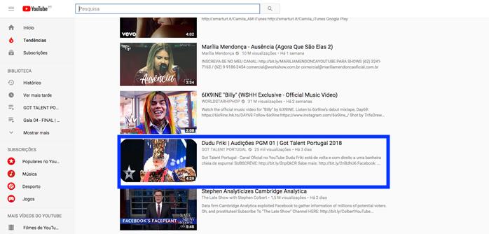 Dudu Got Talent Portugal Got Talent Portugal No Top Das Tendências Do Youtube