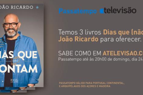 Passatempo João Ricardo Passatempo - Ganha O Livro De João Ricardo - «Dias Que (Não) Contam»