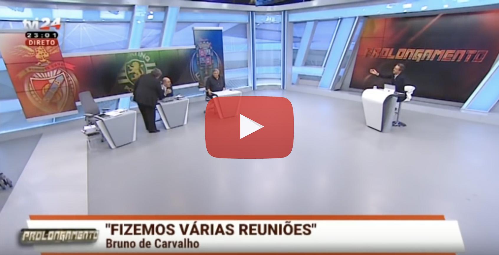 Prolongamento Tvi24 Comentadores Quase Se Agridem Em Direto (Com Vídeo)