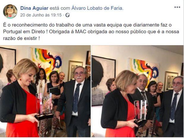 Fb Dina Dina Aguiar E «Portugal Em Direto» Premiados