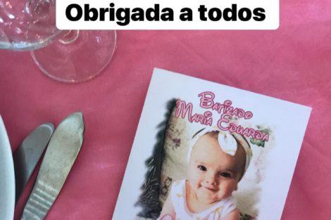 Andreia Machado Italo Lima Love On Top Batizado Maria Eduarda 8 Andreia Machado E Ítalo Lima Juntos No Batizado Da Filha. Veja As Fotos