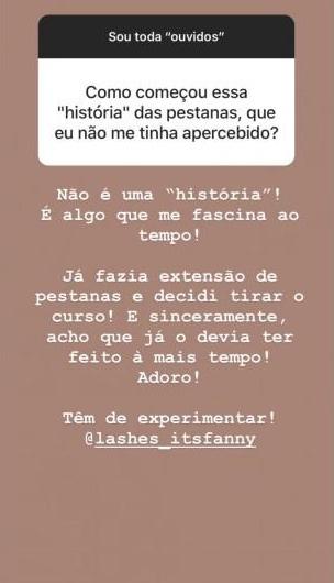 Fanny Extensoes Pestanas Conheça O Novo Negócio De Fanny Rodrigues