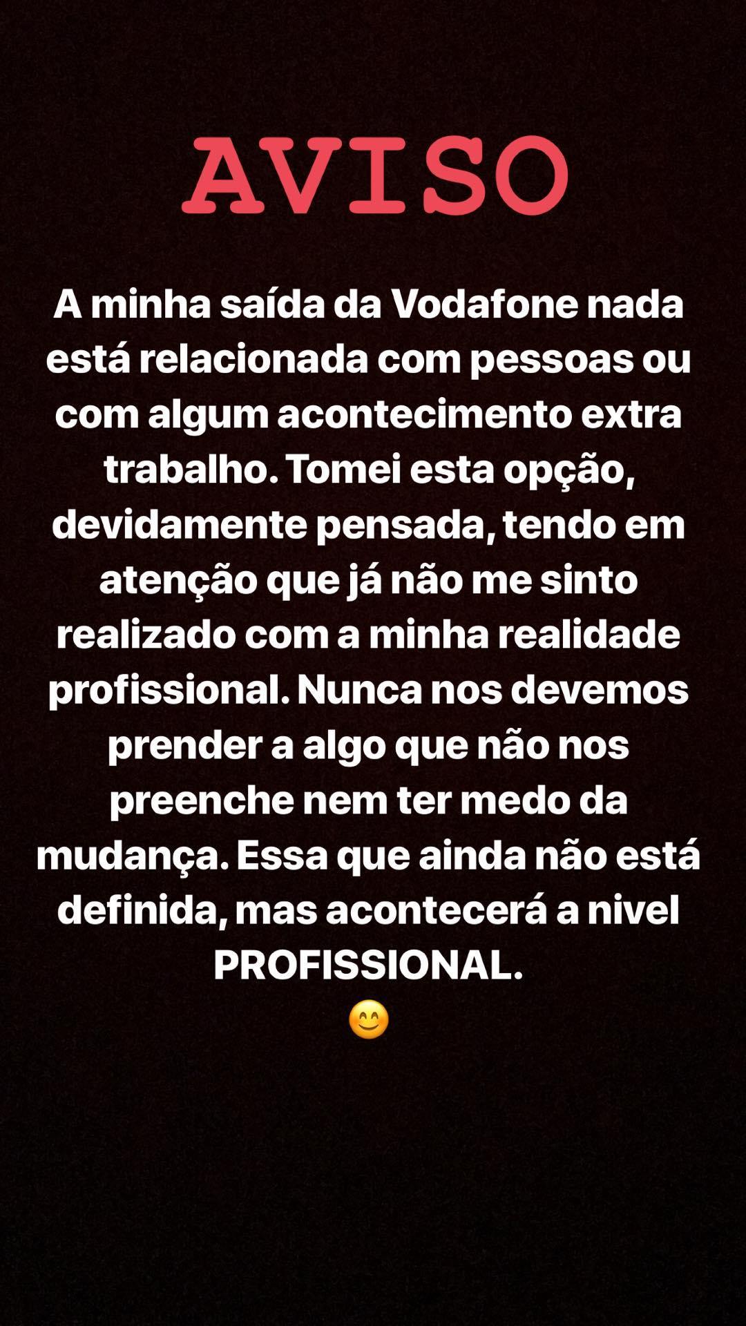 Joao Moreira Trabalho Esclarecimento Depois Do Mal Entendido, João Moreira Deixa Aviso