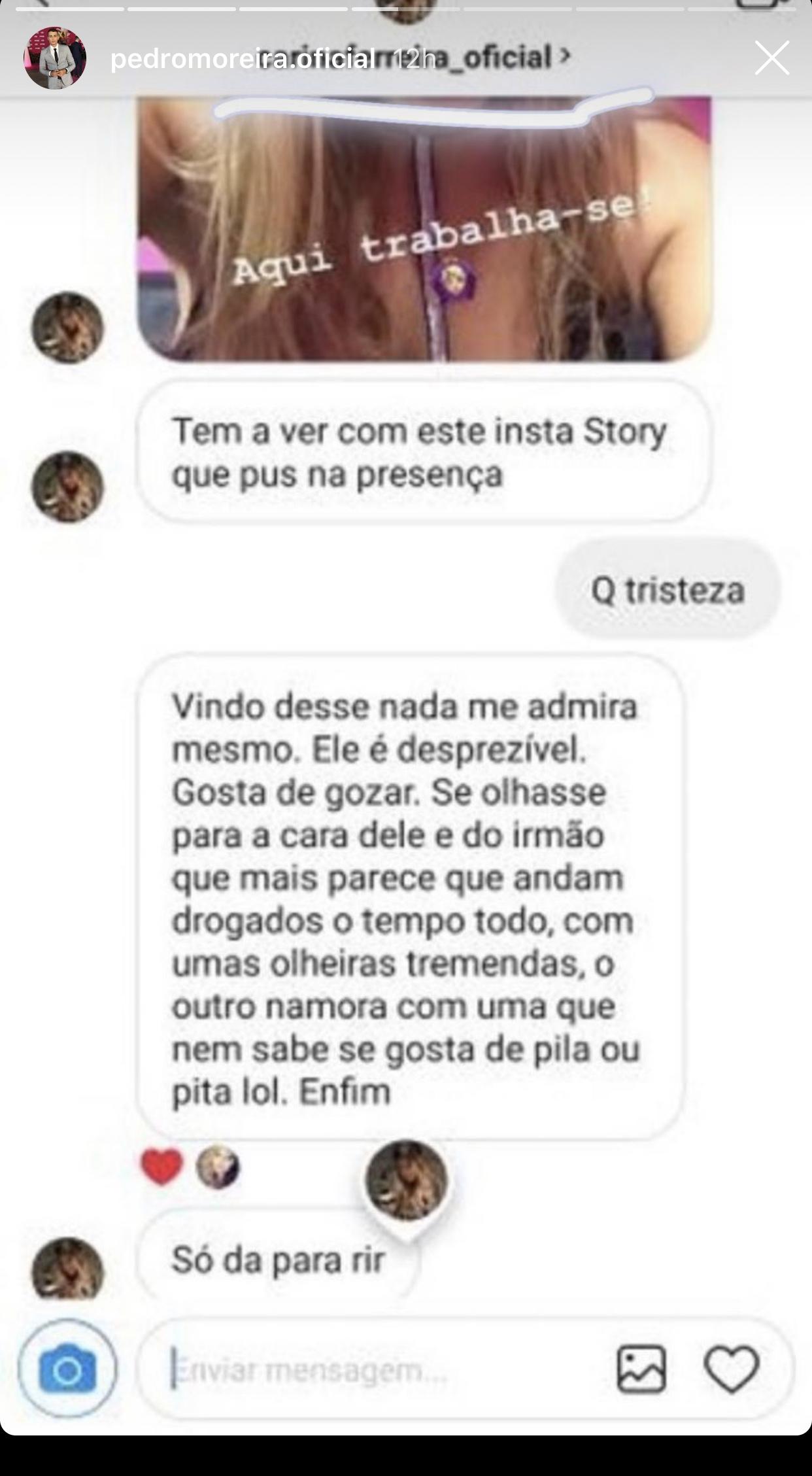 Carina Ferreira Joao Pedro Moreira Casa Dos Segredos Insultos 1 Carina Ferreira E Pedro Moreira Trocam Várias Acusações