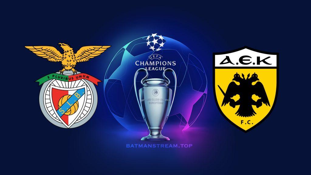 Benfica vs AEK liga campeoes