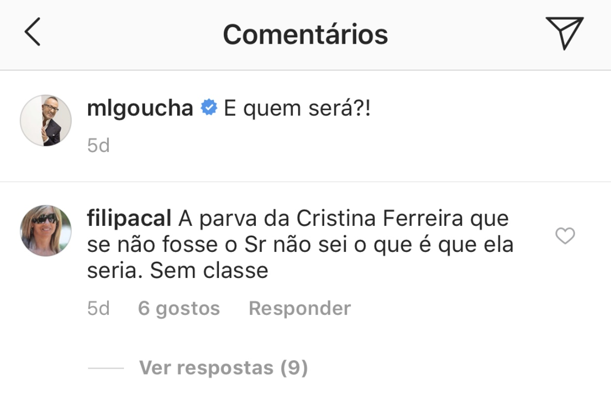 Manuel Luis Goucha Gosto Comentario Cristina Ferreira 2 Goucha Coloca 'Gosto' Em Comentário Arrasador Sobre Cristina Ferreira