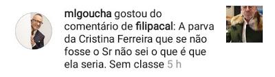 Manuel Luis Goucha Gosto Comentario Cristina Ferreira Goucha Coloca 'Gosto' Em Comentário Arrasador Sobre Cristina Ferreira