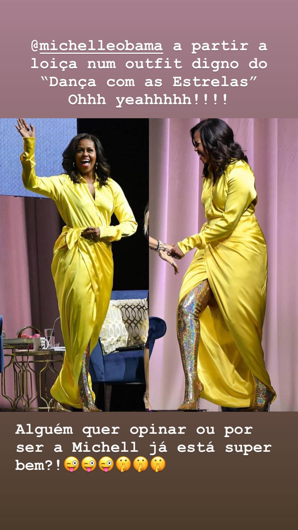 rita pereira reage look michelle obama