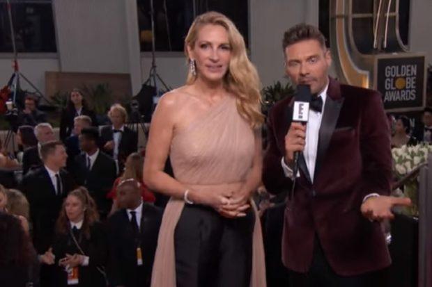 Julia Roberts Julia Roberts Aplaudida Pela Crítica Após Utilizar Look Simples Nos Globos De Ouro