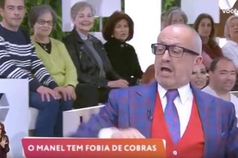 Manuel Luis Goucha Cobra Voce Na Tv &Quot;Não Consigo&Quot;! Goucha Em Pânico Com Uma Cobra No 'Você Na Tv'