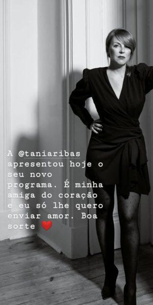 """55924345 380385639225699 5760382075340300096 N Cristina Ferreira Deseja """"Sorte"""" A Tânia Ribas De Oliveira: """"Só Lhe Quero Enviar Amor"""""""