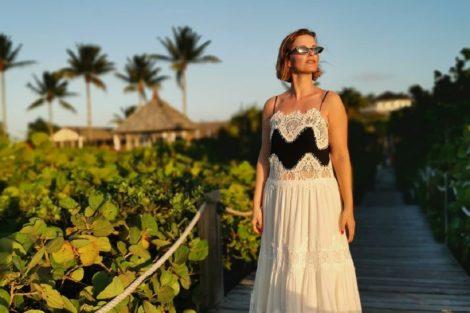 Cristina Ferreira Ilhas Turcas Cristina Ferreira Na Moda Até Durante As Férias. Vestido De Praia Custa Uma Fortuna