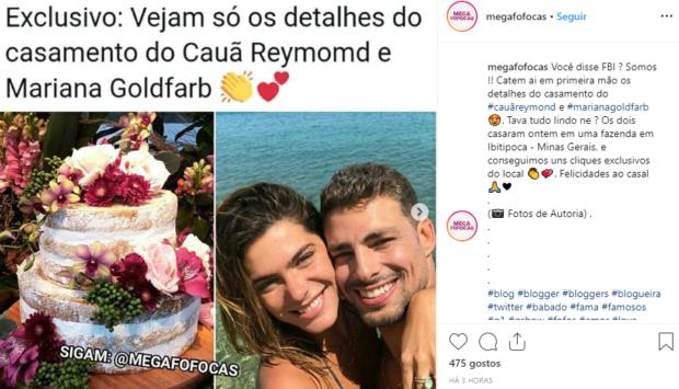 L 1 Cauã Reymond Já Casou. Veja As Primeiras Fotos Do Casamento