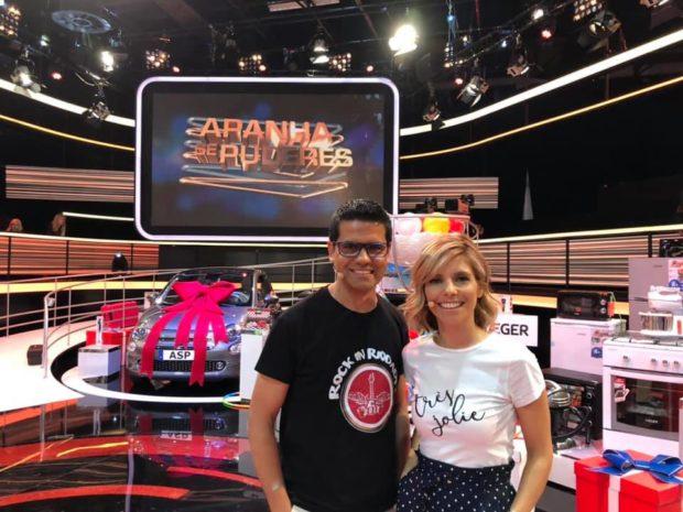 Marcos Pinto Rita Rodrigues Pivô Da Tvi Participa No 'Apanha Se Puderes' Para Ajudar A Construir Um Lar Para Idosos