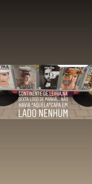 Revista Cristina 2 Estabelecimentos Comerciais Evitam Expor Polémica Capa Da Revista 'Cristina'