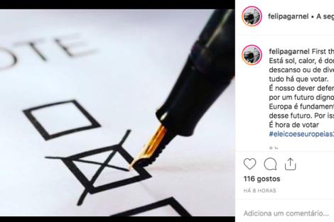 Captura De Ecrã 2019 05 26 Às 17.59.58 Famosos Incentivam Ao Voto Nas Eleições Europeias. Descubra Quem Já Votou!