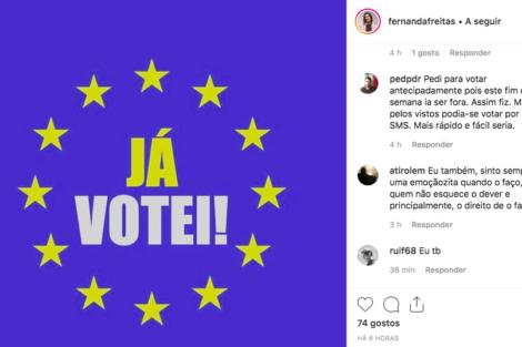 Captura De Ecrã 2019 05 26 Às 18.00.20 Famosos Incentivam Ao Voto Nas Eleições Europeias. Descubra Quem Já Votou!