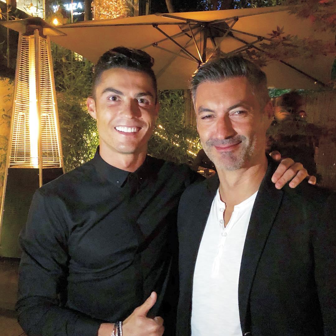 Cristiano E Vitor Baía Cristiano Ronaldo Diverte-Se Com Amigos Em Lisboa