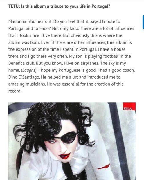 Dinodsantiago &Quot;Foi Essencial Na Criação Deste Novo Álbum&Quot;: Madonna Elogia Dino D'Santiago