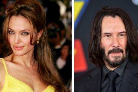 angelina jolie keanu reeves Angelina Jolie está interessada em Keanu Reeves?