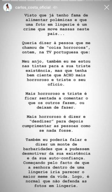 1 Carlos Costa Sente-Se Ofendido E Arrasa Comentadora Do 'Passadeira Vermelha'