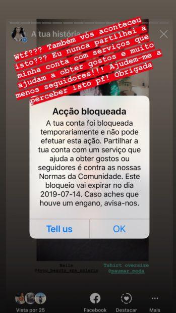Alexandra Ferreira Bloqueada Alexandra Ferreira Revoltada Com Ação Do Instagram: &Quot;Levo Com Estas Injustiças&Quot;