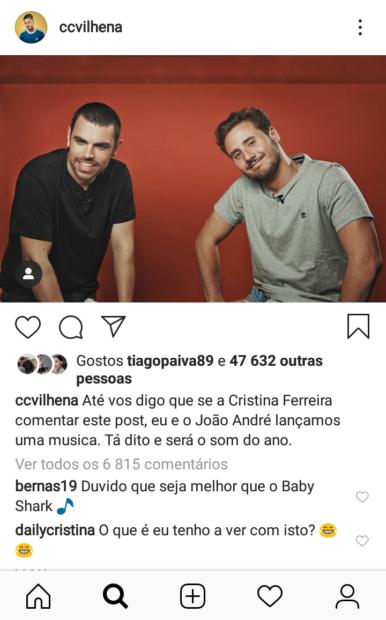Carlos Vilhena Joao Andre Cristina Ferreira Carlos Vilhena E João André Brincaram Com Cristina Ferreira... E Queimaram-Se!