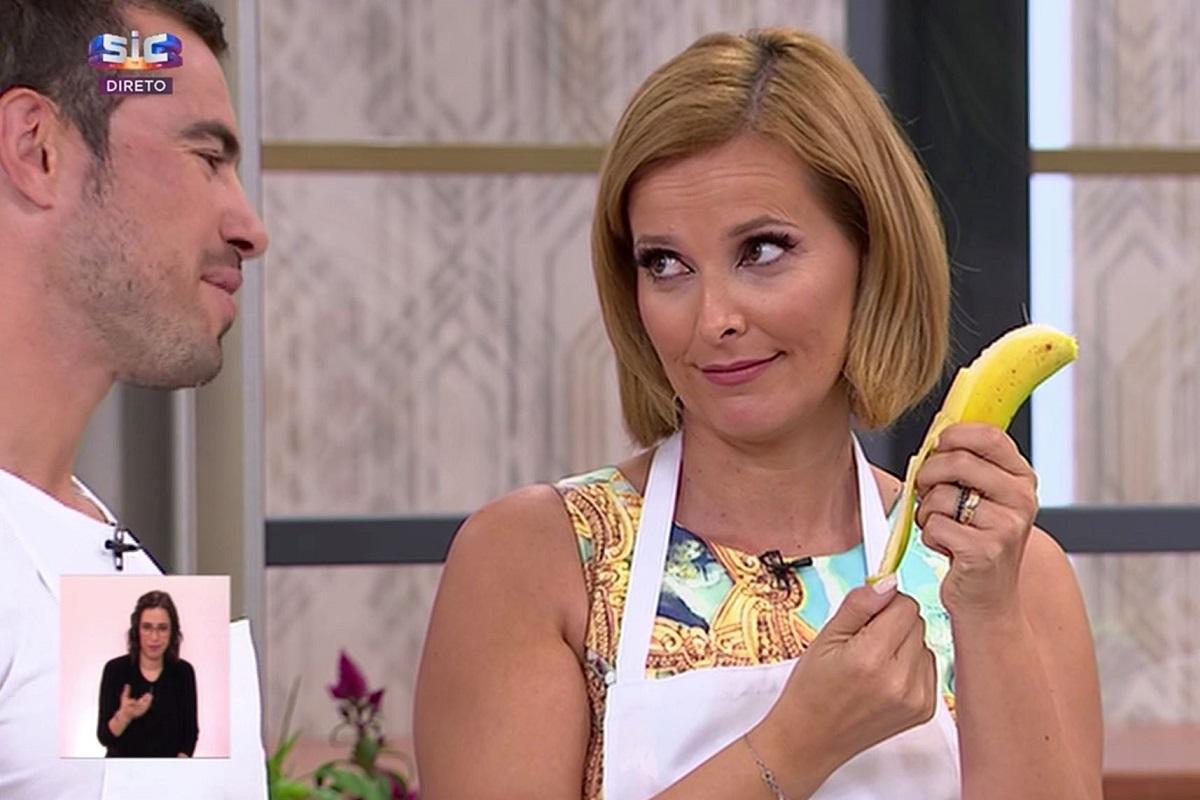 Cristina Ferreira Banana Fernando Pimenta É Muito Ano! Cristina Ferreira Ensina Fernando Pimenta A Descascar Uma Banana