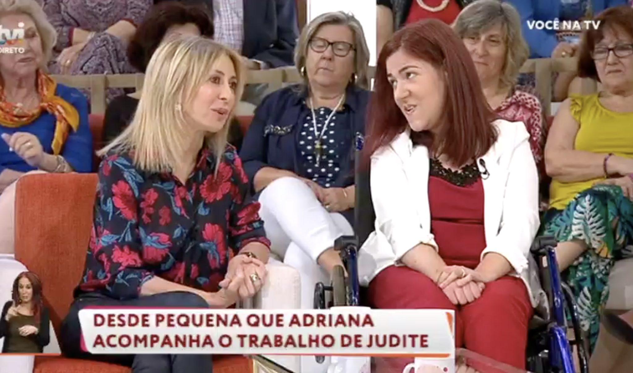 Judite Sousa Fa Voce Na Tv Judite Sousa Surpreende Fã Com Paralisia Cerebral Em Direto