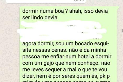 Liliana Rodrigues 4 &Quot;Dormir No Hotel&Quot;? Liliana Rodrigues Dá Nega A Músico E Mostra As Mensagens