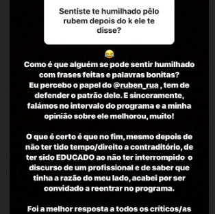Transferir 4 'Like Me'. Wilson Teixeira Reage Ao Confronto Com Ruben Rua Durante Gala
